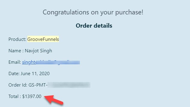 GrooveFunnels Invoice
